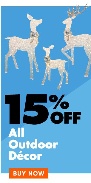 15% off Outdoor Decor