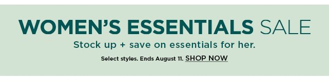 shop the women's essentials sale