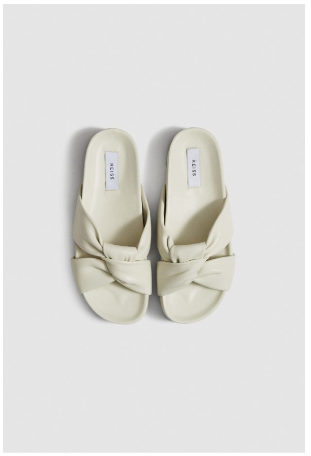 Phoebe White Leather Sandals