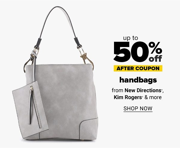 Up to 50% off handbags - after coupon - from New Directions, Kim Rogers & more. Shop Now.
