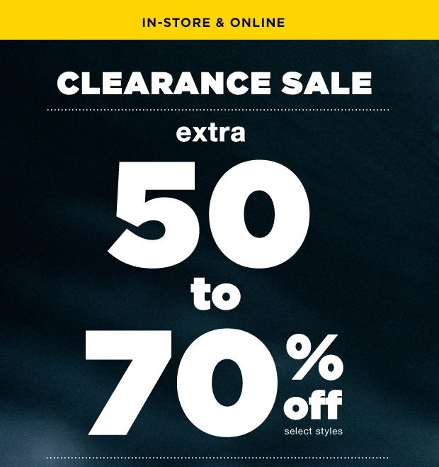 EXTRA 50%-70% OFF SALE - Shop Now