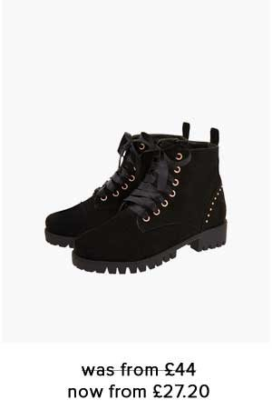 ELSIE CHUNKY LACE UP BOOTS