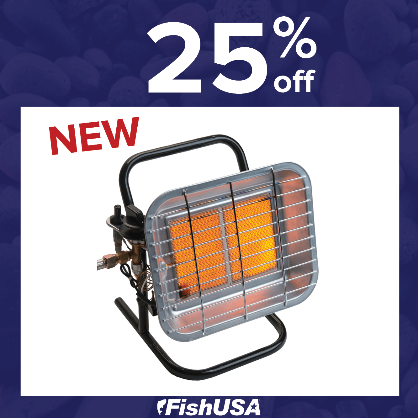 Take 25% off the NEW Thermablaster 15000 BTU Infrared Portable Propane Heater