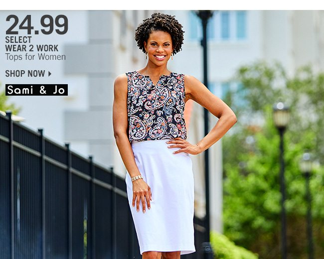 Shop 24.99 Select Wear 2 Work Tops for Women