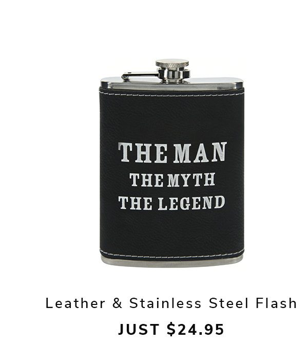 The Legend - PU Leather & Stainless Steel Flask | SHOP NOW