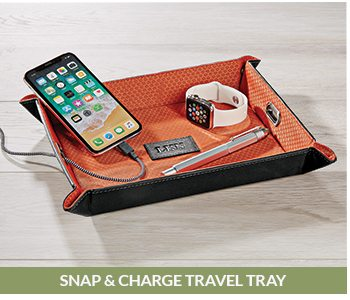 Shop Snap and Charge Travel Tray