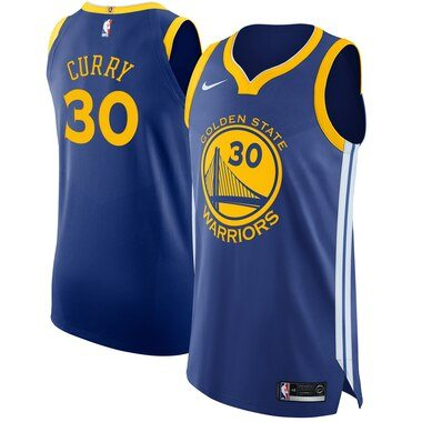 Stephen Curry Golden State Warriors Nike Authentic Jersey Royal - Icon Edition