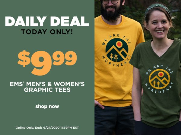 Daily Deal: $9.99 EMS Men's & Women's Graphic Tees - Online Only - Click to Shop