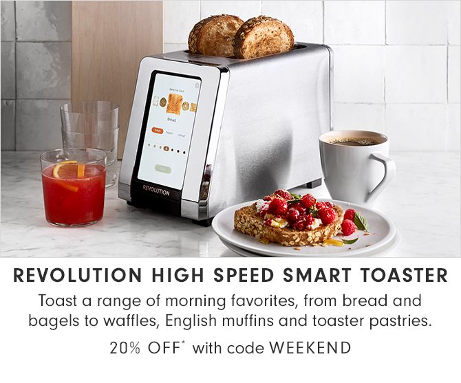 REVOLUTION HIGH SPEED SMART TOASTER - 20% OFF* with code WEEKEND
