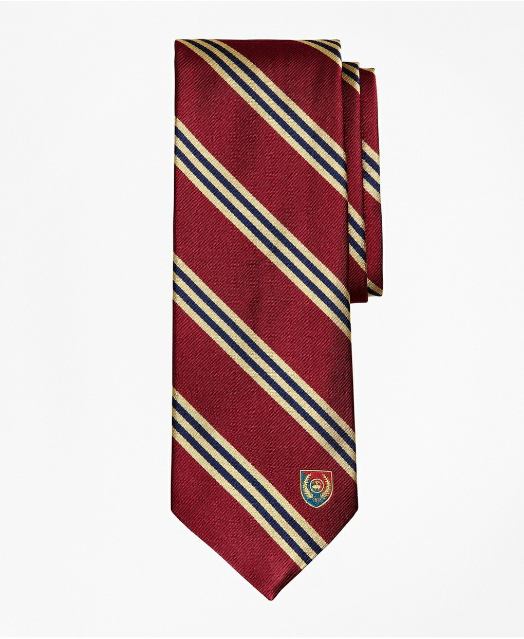 Limited Edition Archival Collection BB#1 Striped Rep with Crest Silk Tie