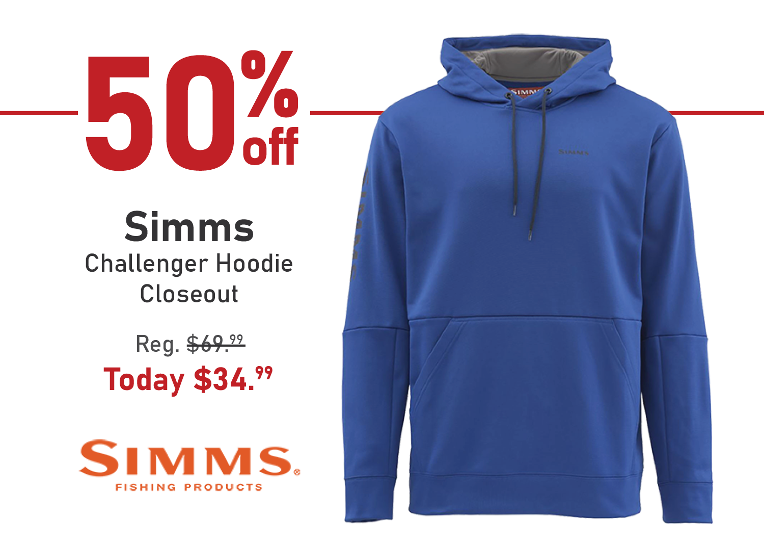 Simms Challenger Hoodie - Closeout