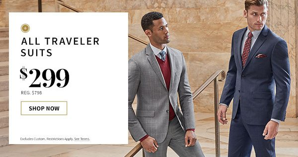 $299 All Traveler Suits