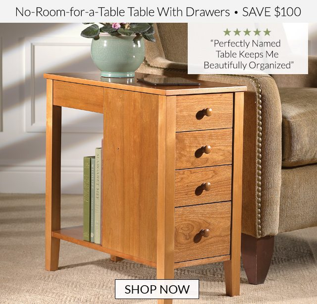 No-Room-for-a-Table Table With Drawers