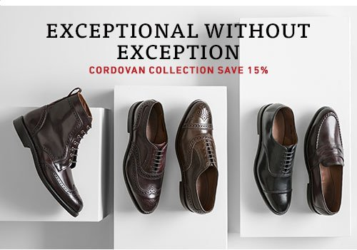 Save 15% on Cordovan Collection