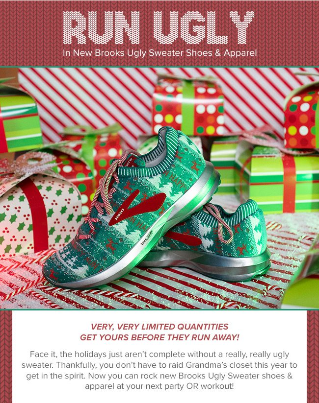 ec727eee823 Run Ugly In New Brooks Ugly Sweater Shoes   Apparel - Road Runner ...