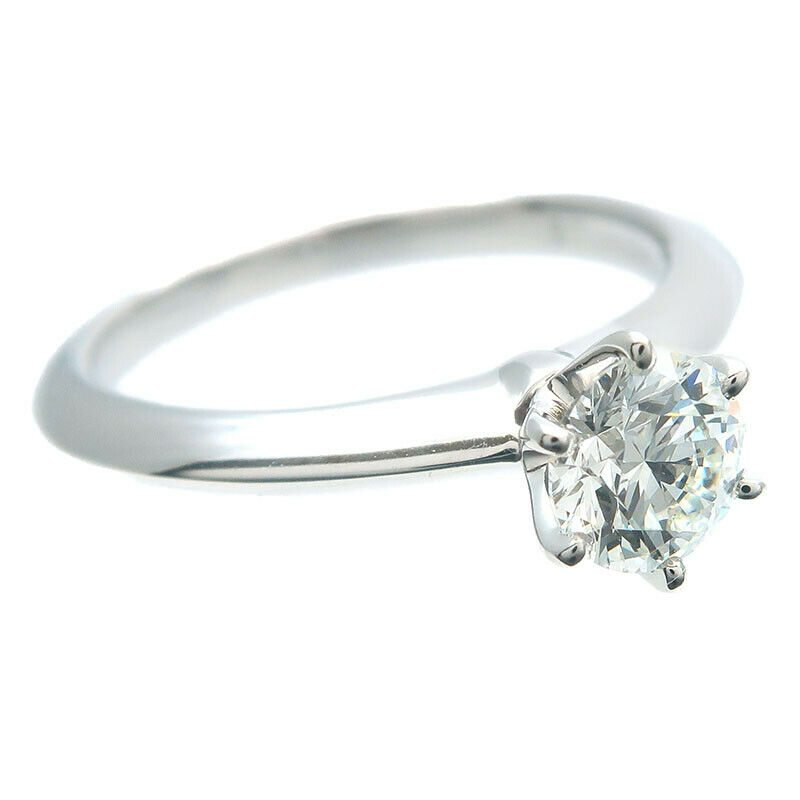 Image of Authentic Tiffany&Co. Solitaire Diamond Ring 0.55ct Platinum US4.5 EU48 Used F/S