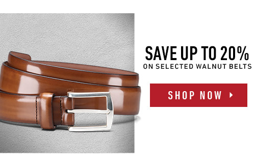 Save up to 20% on selected Walnut Belts