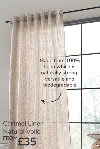 Cartmel linen natural voile from £35
