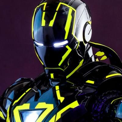 Neon Tech Iron Man 2.0 Sixth Scale Figure Sixth Scale Figure by Hot Toys