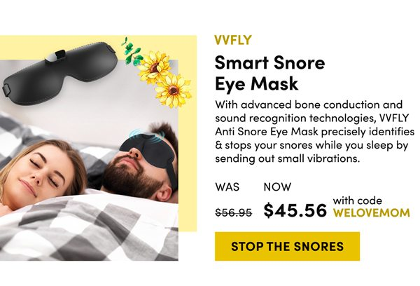 VVFLY Smart Snore Eye Mask   Stop the Snore