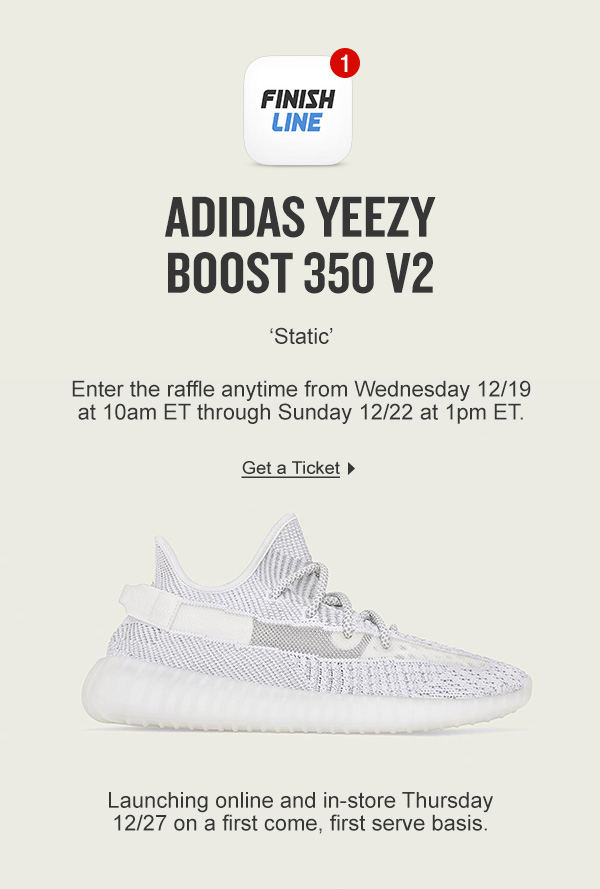 Yeezy 'Static' Reservation details