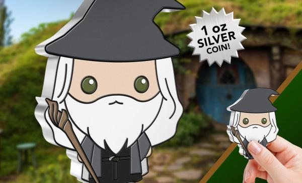 Gandalf the Grey 1oz Silver Coin Silver Collectible by New Zealand Mint