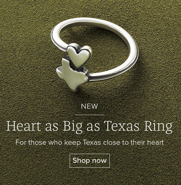 NEW Heart as Big as Texas Ring - For those who keep Texas close to their heart - Shop now