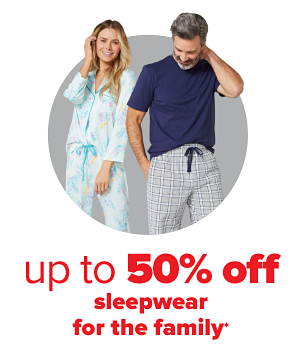 Daily Deals - Up to 50% off sleepwear for the family.