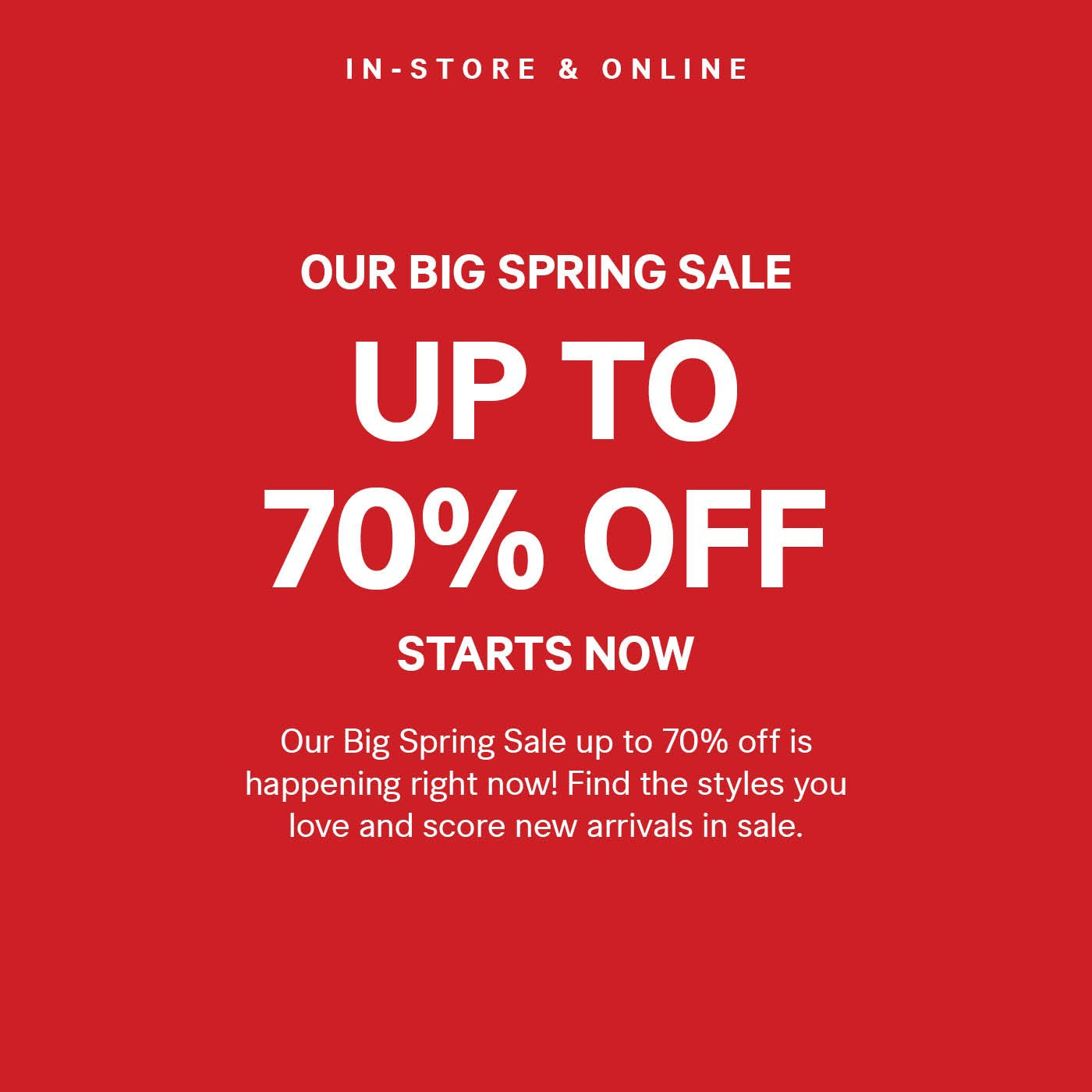 effective immediately big spring sale h m email archive