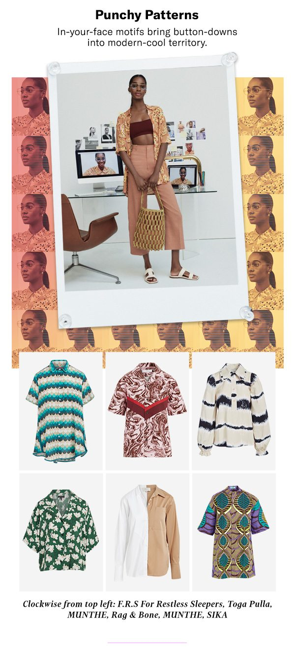 Video & Beyond Tops Spring-ready styles to add to your on- and off-screen wardrobe.