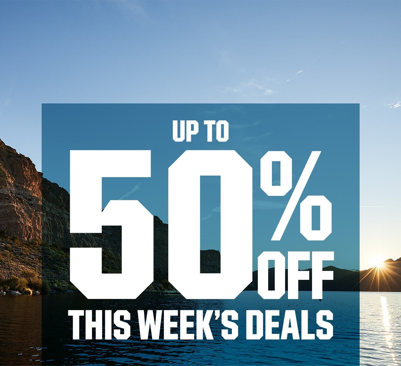 Up to 50% off this week's deals.