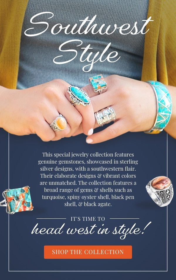 Explore gorgeous turquoise styles & more from Southwest Style