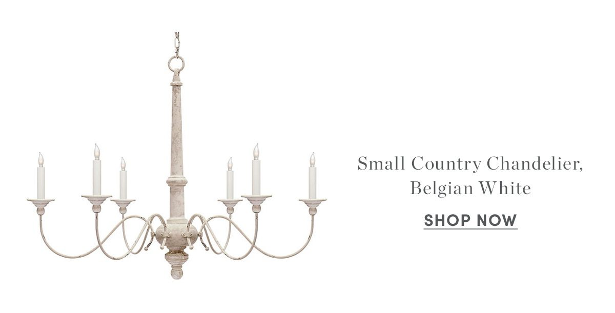 Small country chandelier, Belgian white