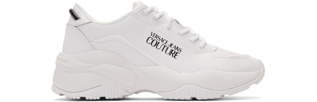 Versace Jeans Couture - White Logo Chunky Sneakers