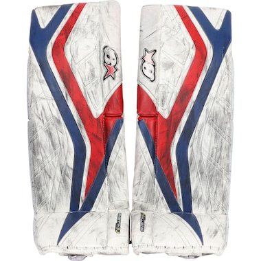 Alexandar Georgiev New York Rangers Fanatics Authentic Game-Used White Goalie Pads from the 2018-19 NHL Season
