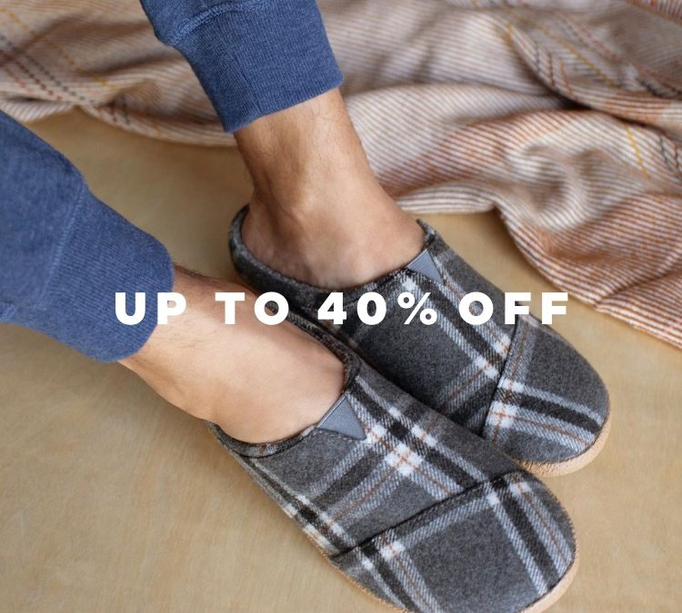 Up to 40% off toms