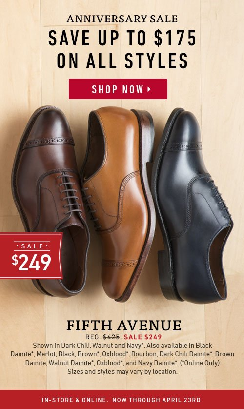 Save up to $175 on all styles.