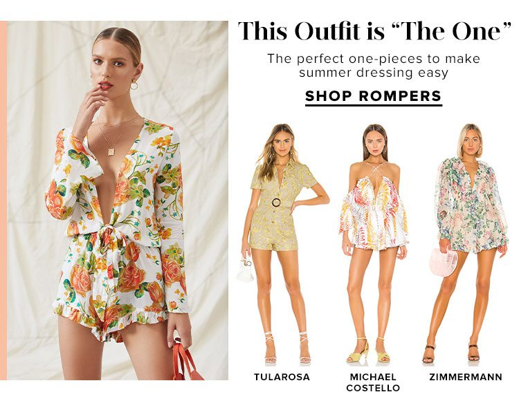 """This Outfit is """"The One"""". The perfect one-pieces to make summer dressing easy. Shop Rompers."""