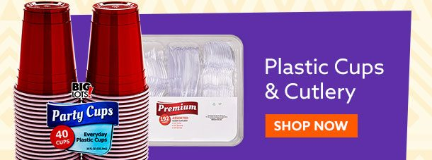 Plastic Cups and Cutlery