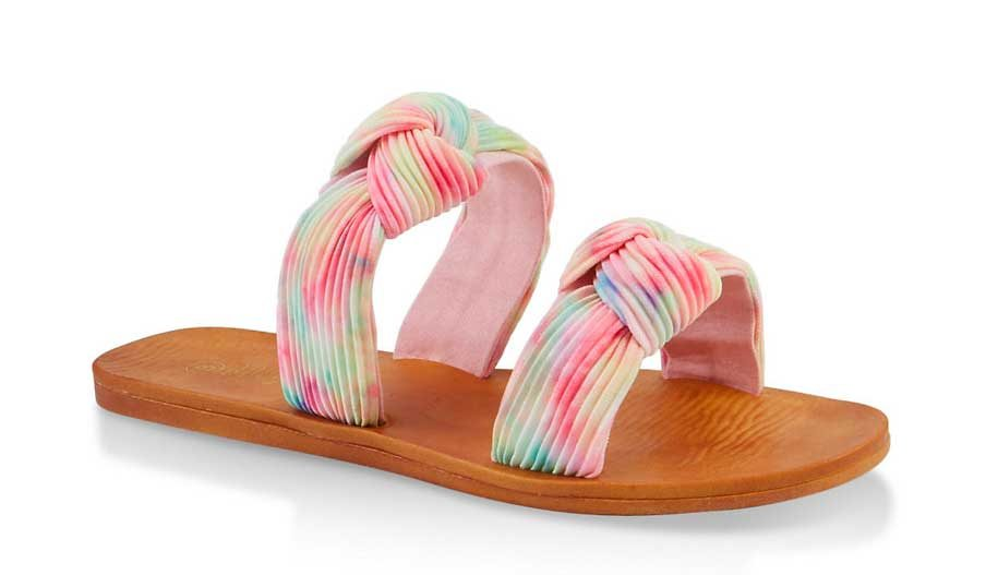 Knotted Double Band Slide Sandals