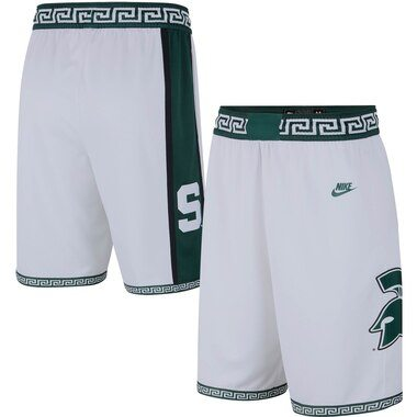 Michigan State Spartans Nike Limited Retro Basketball Shorts – White