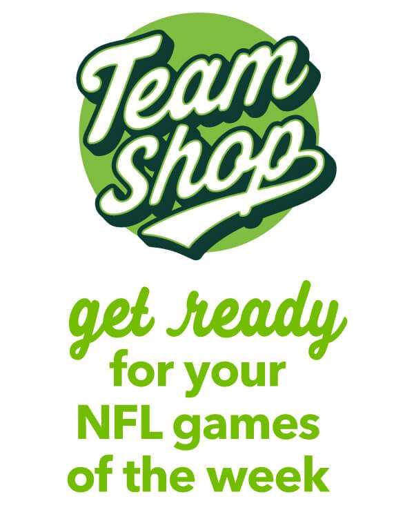 Team Shop. Get Ready NFL Games of the week.