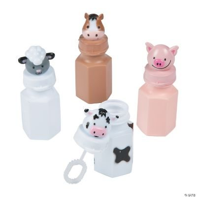 Barnyard Bubble Bottles - 12 Pc.