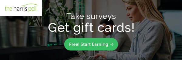 Take surveys and get gift cards
