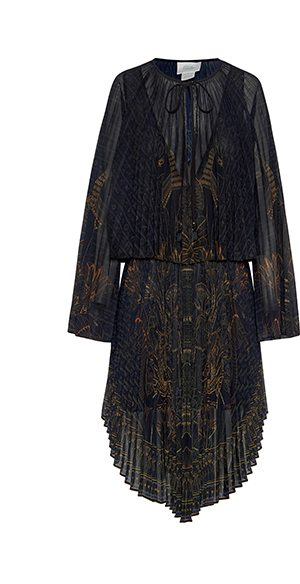 SHOP DOUBLE LAYER PLEATED DRESS COBRA KING