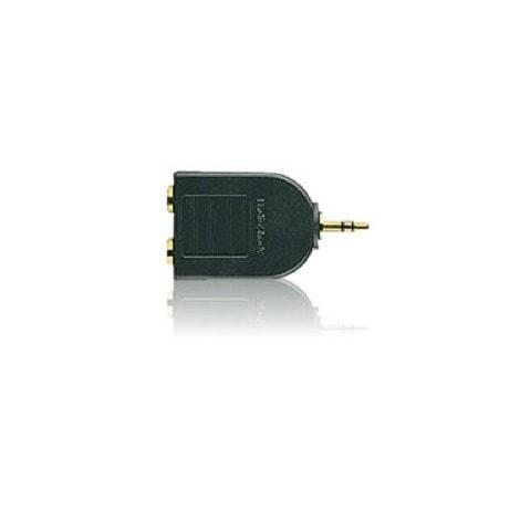 Gold-Plated Y-Adapter 1/4-Inch Jacks-to-1/8-Inch Plug