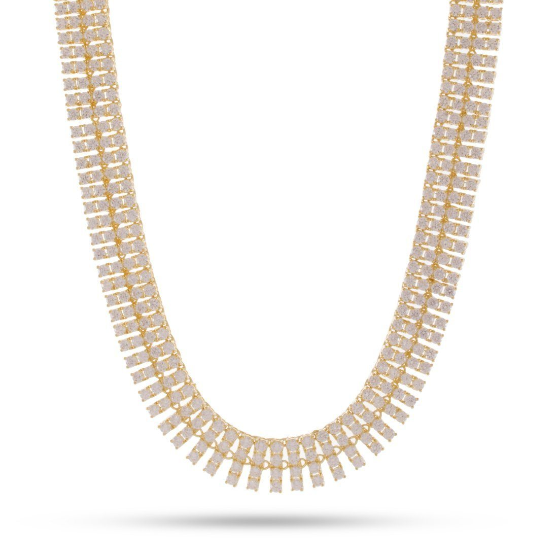 Image of 4 Row 14K Gold Tennis Necklace