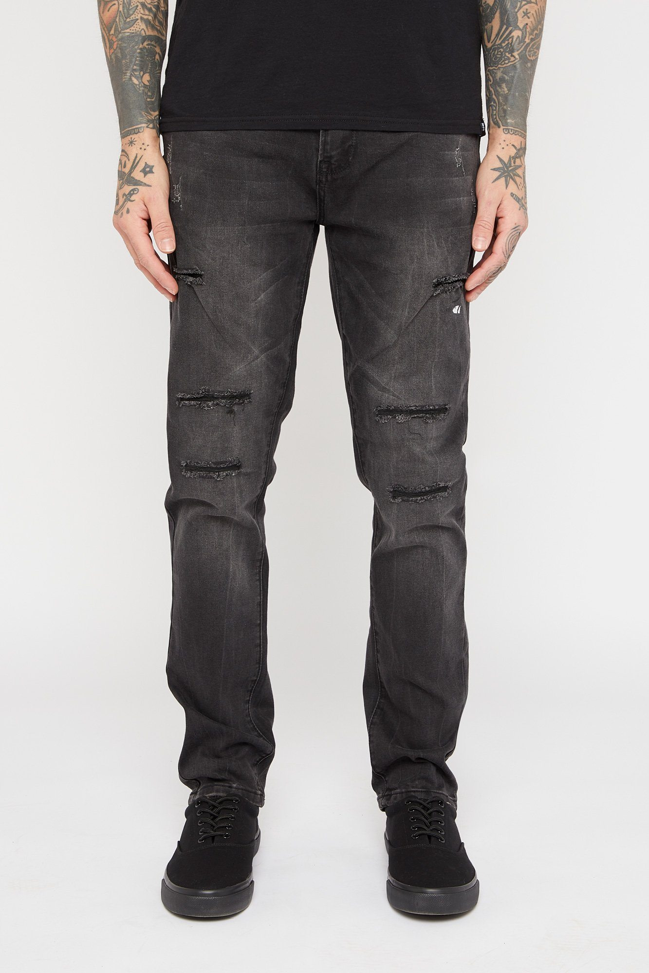 Image of Zoo York Mens Distressed Skinny Jeans