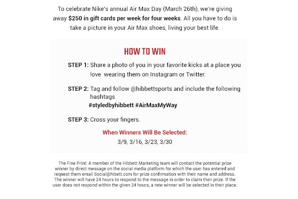 nike air max day cards