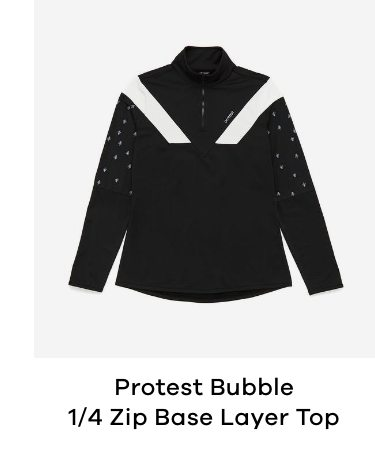 Protest Bubble 1/4 Zip Womens Base Layer Top